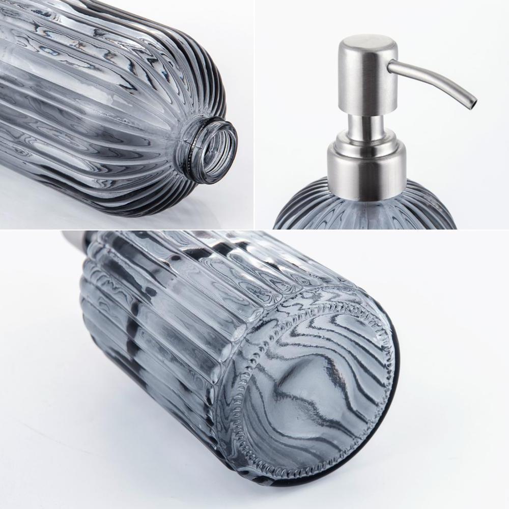 Smartloc 600ml liquid <font><b>Soap</b></font> Shampoo Bottle <font><b>Storage</b></font> Box Bathroom Set