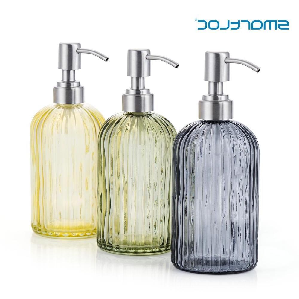 600ml glass hand liquid font b soap