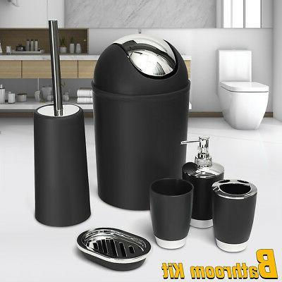6Pcs/Set Bathroom Accessory Bin Soap Dish Dispenser Tumbler