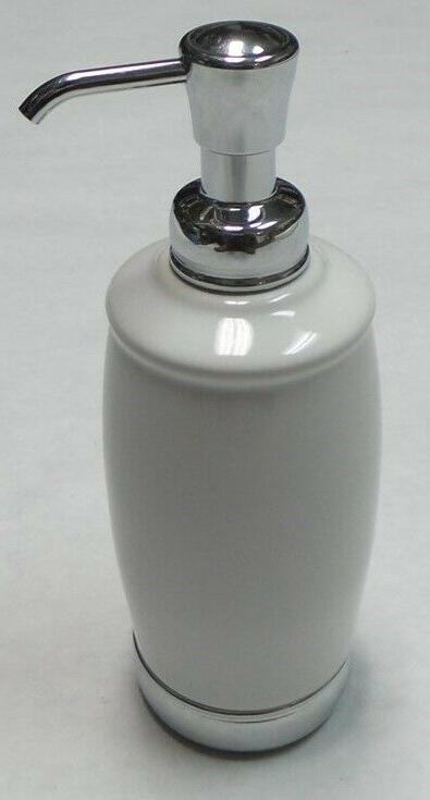 InterDesign Ceramic Soap Pump Chrome Accents