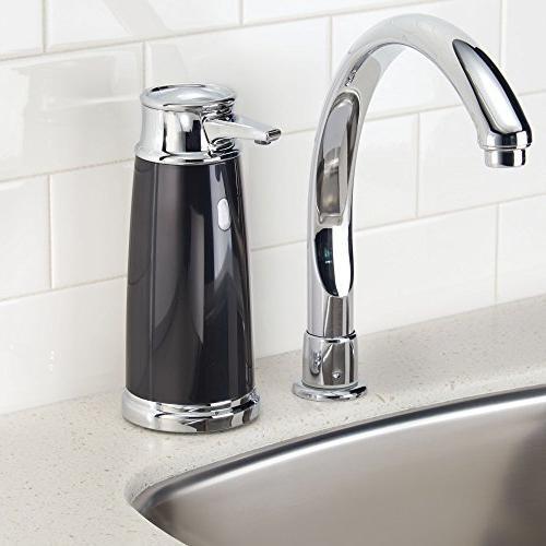 InterDesign 79042 Euro Free & Touchless Liquid with for Kitchen Bathroom Black/Chrome
