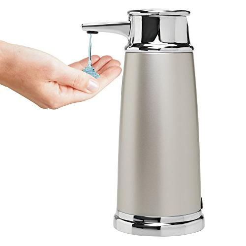InterDesign 79045 Euro Hands Free Automatic Liquid Soap Dispenser Pump with Motion Kitchen and Satin/Chrome