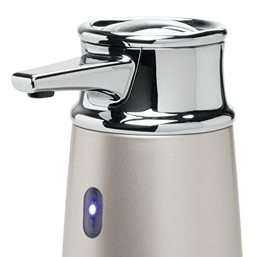 InterDesign 79045 Free & Touchless Liquid Soap Dispenser Pump with Kitchen and Satin/Chrome