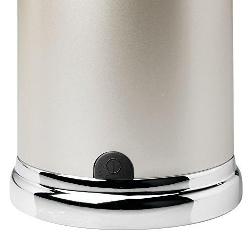 InterDesign 79045 Euro Hands Free & Liquid Soap Dispenser Pump Kitchen and Bathroom Satin/Chrome