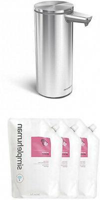 simplehuman 9 Oz. Sensor Soap Pump, Brushed Stainless Steel