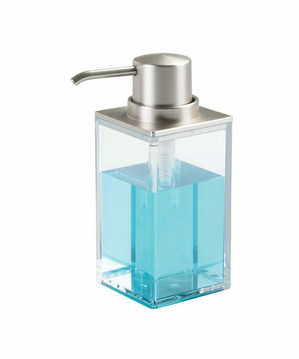 InterDesign Clarity Soap Dispenser Pump for Body Moisturizer