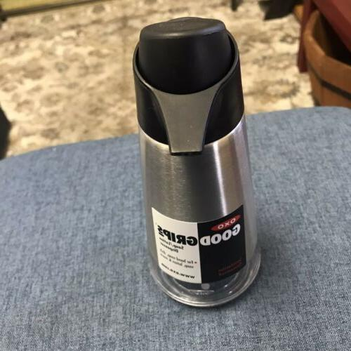 OXO Easy Press Stainless Steel Soap Dispenser