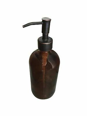 Industrial Glass with Bronze Soap Dispenser Pump R...