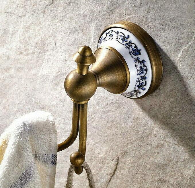 Antique Brass Accessories Set Towel