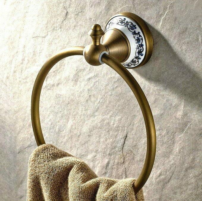Antique Ceramic Accessories Set Bath Towel Bar S011