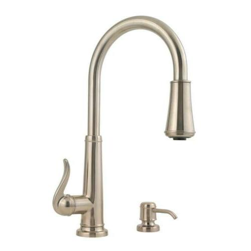Pfister Ashfield 1-Handle Pull-Down Kitchen Faucet with Soap