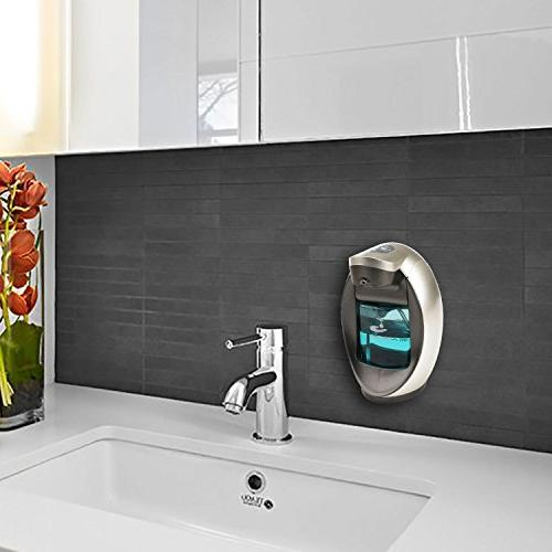 Soap Dispenser, Touchless Hand Sanitizer Soap Wall Adjustable for Bathroom