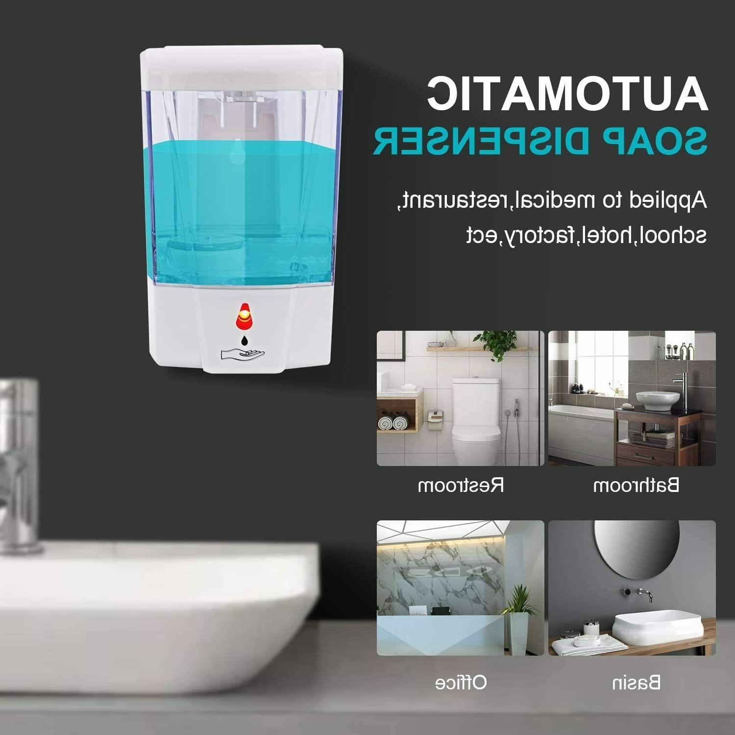 Automatic Liquid Soap 700ML Handfree Sensor Wall