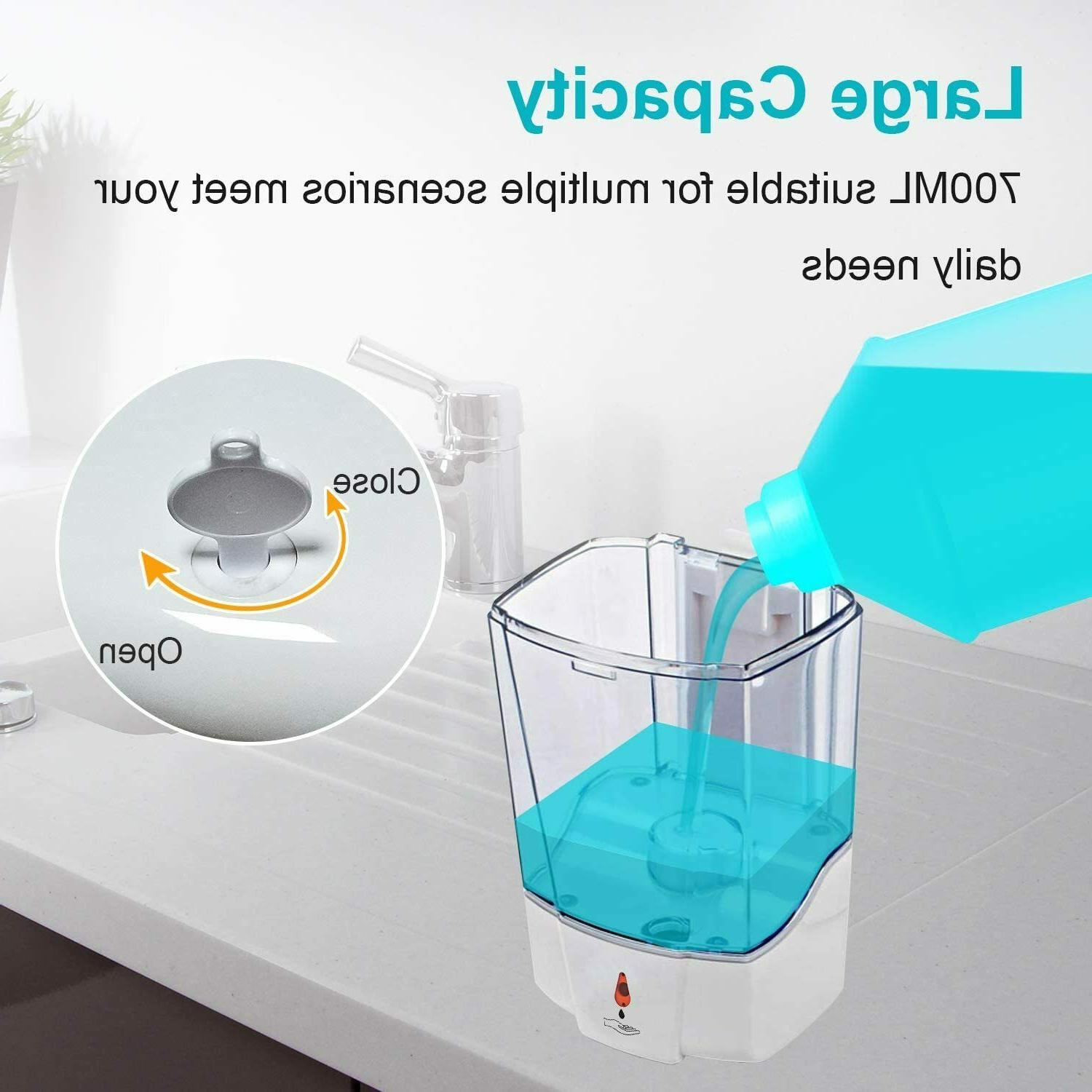Automatic Liquid Soap Dispenser 700ML Handfree Sensor Wall