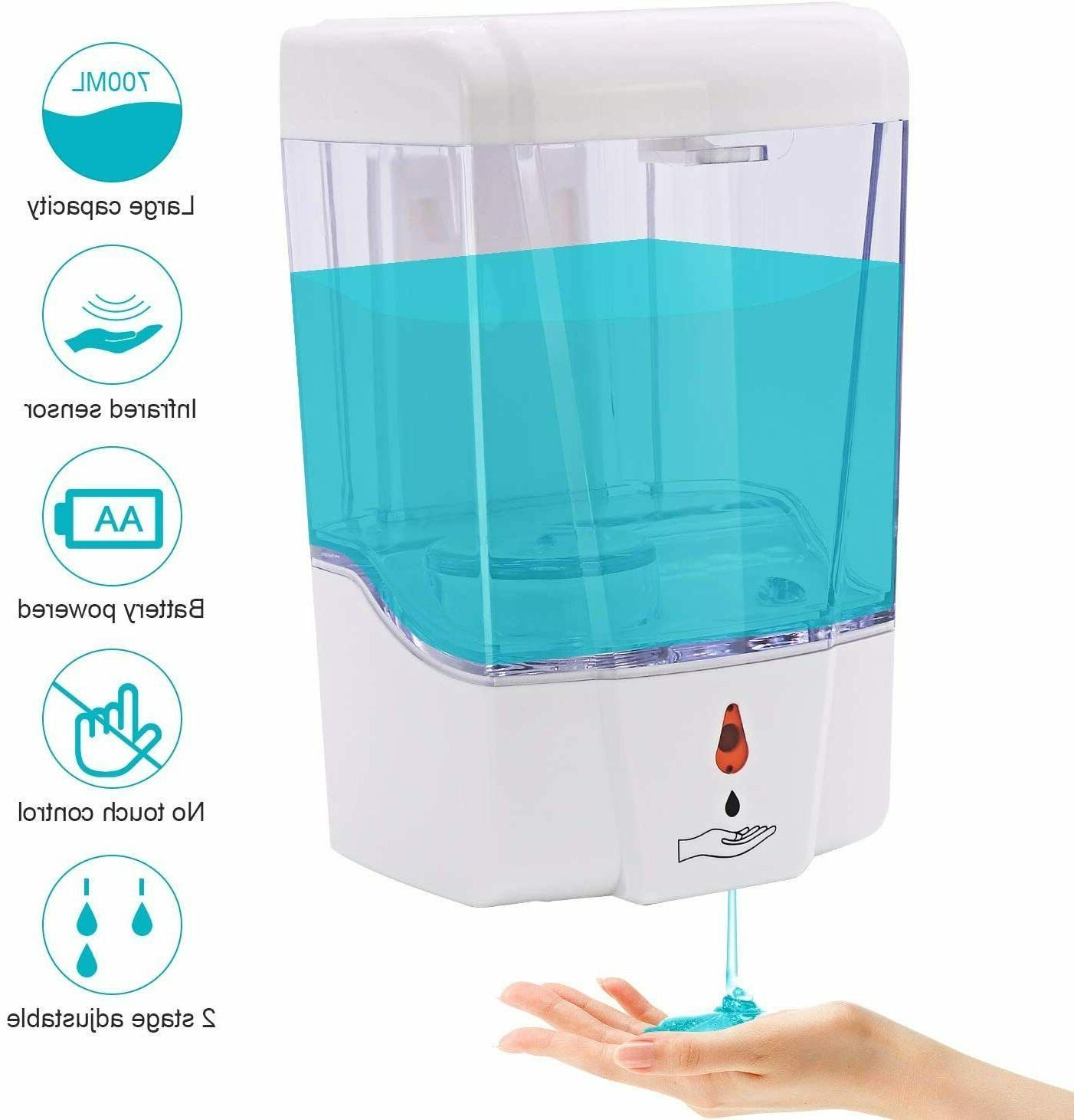 automatic liquid soap dispenser 700ml handfree touchless