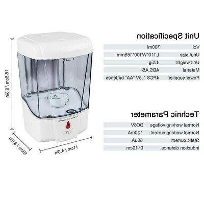 Automatic 700ML Mount Sanitizer DHL