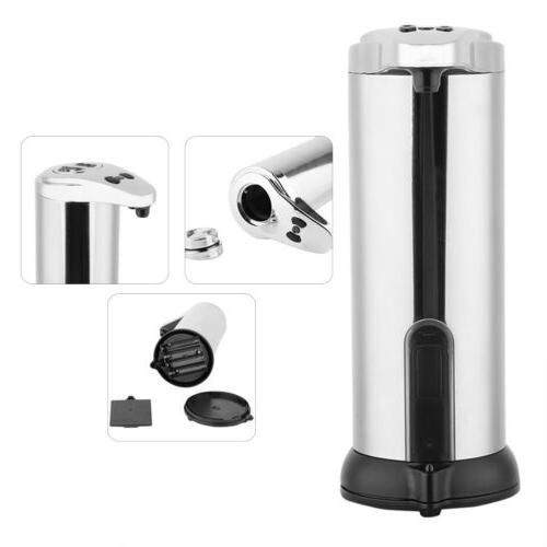 Hands Free Automatic Stainless Steel Soap Shampoo Dispenser Kitchen Bathroom