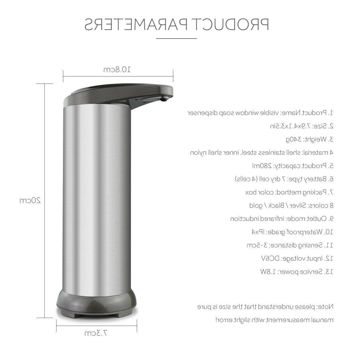 Automatic Soap Dispenser Visible IR Sensor