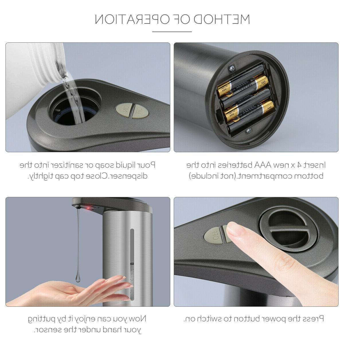 Automatic Soap Stainless Visible Touchless Handsfree Sensor