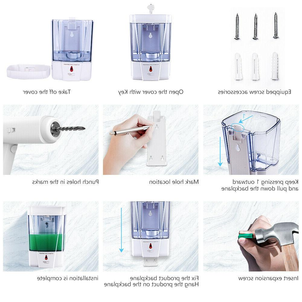 Automatic Mount Touchless Liquid/Gel