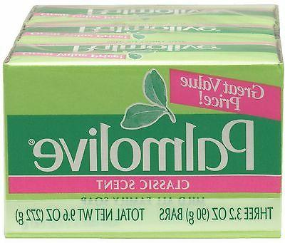 Palmolive Bath Bar Soap, Classic Scent 3.20 oz, 3 ea