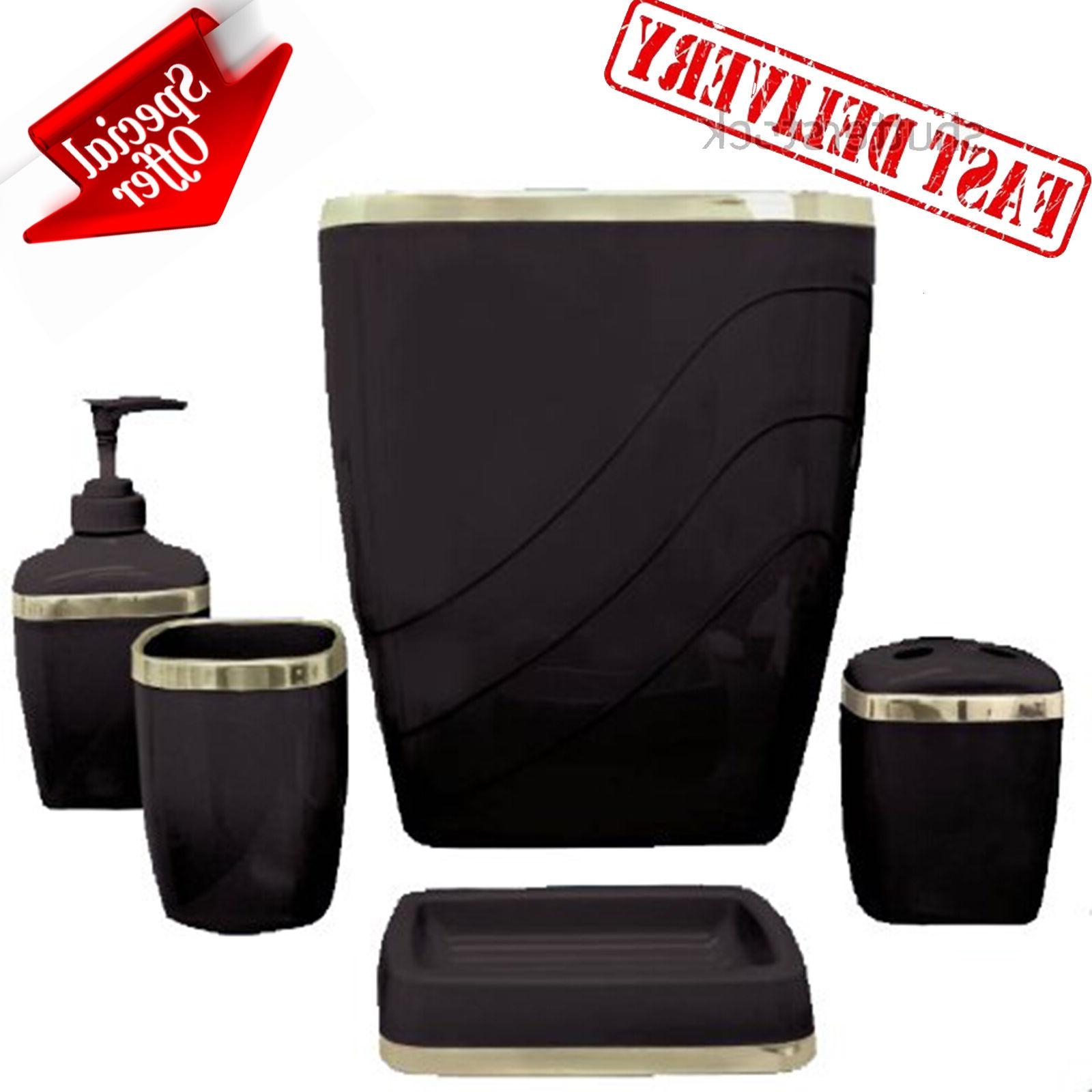 Bathroom Soap Dispenser Set Accessories Plastic Tumbler Bath