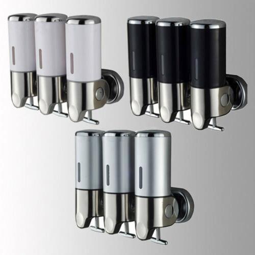 Bathroom Triple Gel Dispenser Lotion Shampoo Liquid Dispenser