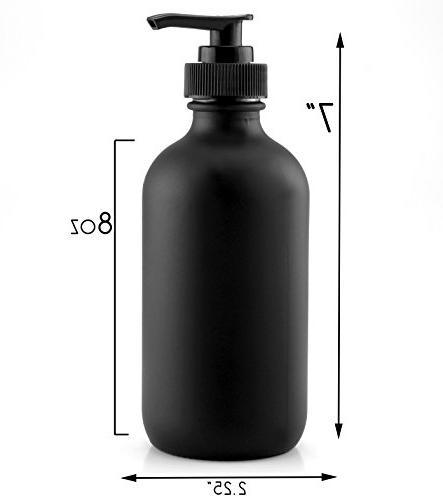 Cornucopia Coated 8-Ounce , Black Plastic Nozzles Included; Lotions, & Hand