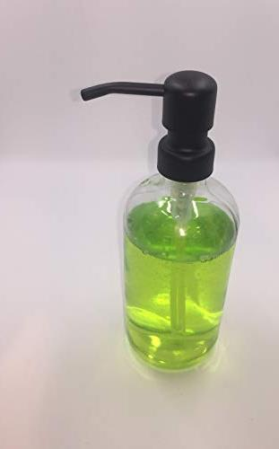Soap Dispenser Clear Bottle Kitchen Sink or Restroom