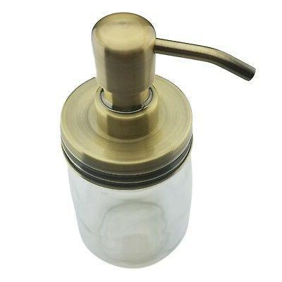 Nighthawk Brass Mason Jar Soap Dispenser Lid | Rust Proof Ma