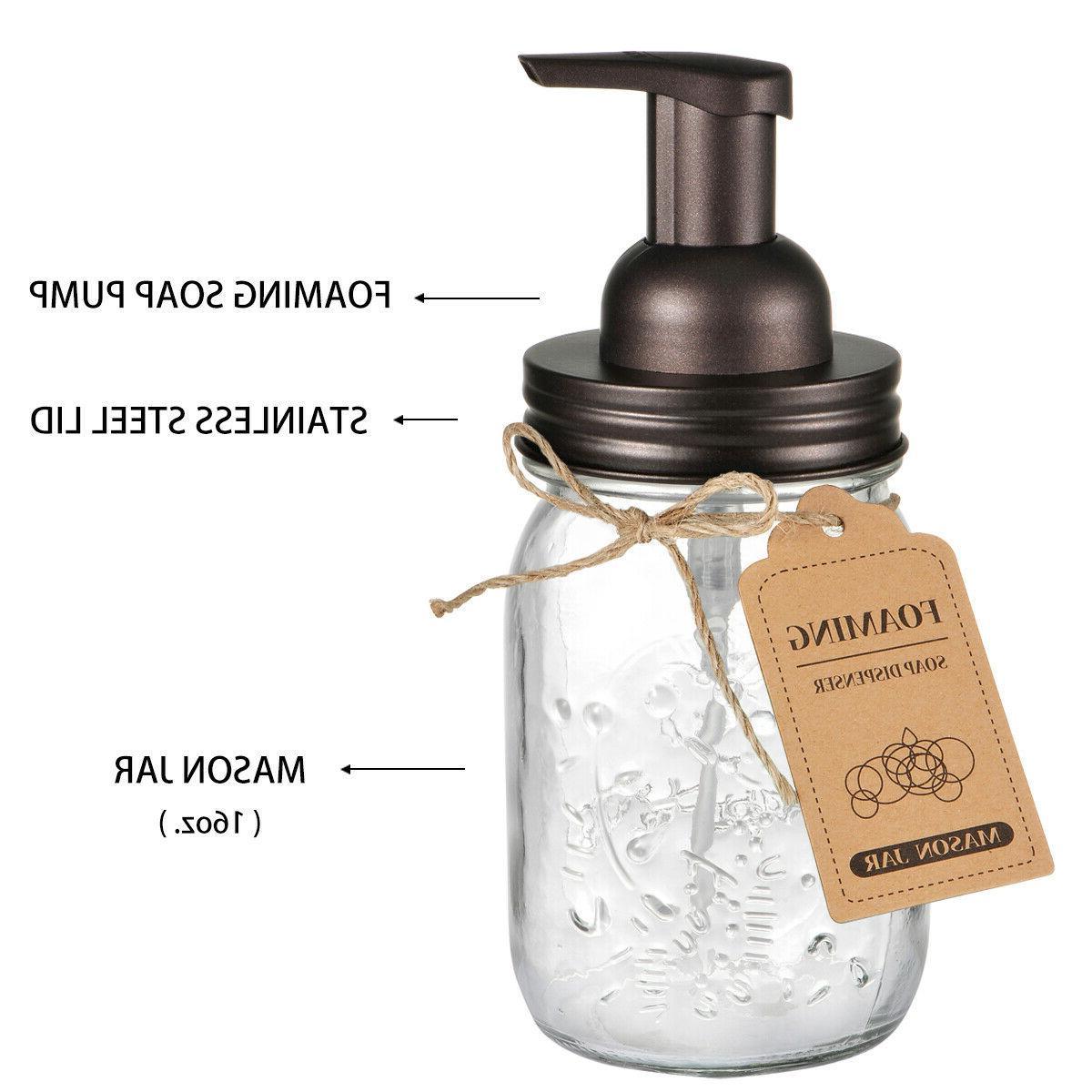 Bronze Mason Foaming Soap Dispenser Qtip