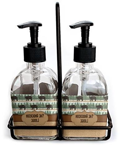 cabin soap lotion dispenser set