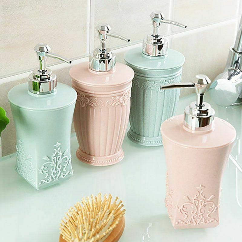 Carved Plastic Refillable Shampoo Soap Cream Lotion Dispense