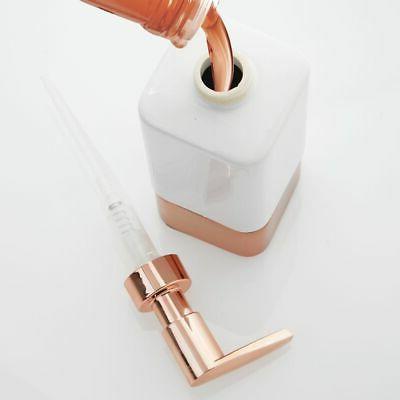 mDesign Ceramic Refillable Soap Dispenser