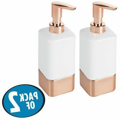 mDesign Ceramic Liquid Soap Dispenser Pumps