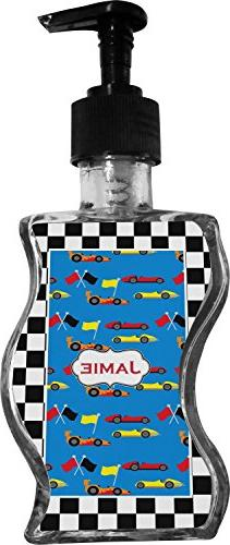 checkers racecars wave bottle soap