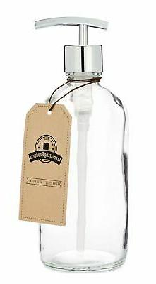 Jarmazing Products Clear Glass Jar Soap and Lotion Dispenser