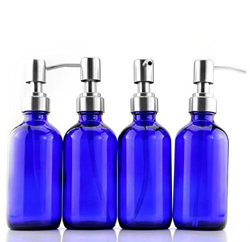 8-Ounce Bottles w/ Lotion Boston Round DIY, Soap