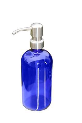 cobalt blue pint jar soap dispenser