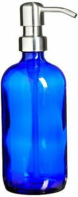 Industrial Rewind Cobalt Blue Soap Dispenser with Stainless
