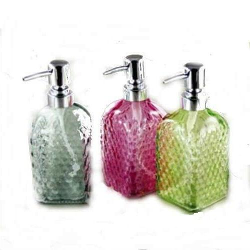 Grant Howard Colored Glass Soap or Lotion Dispenser