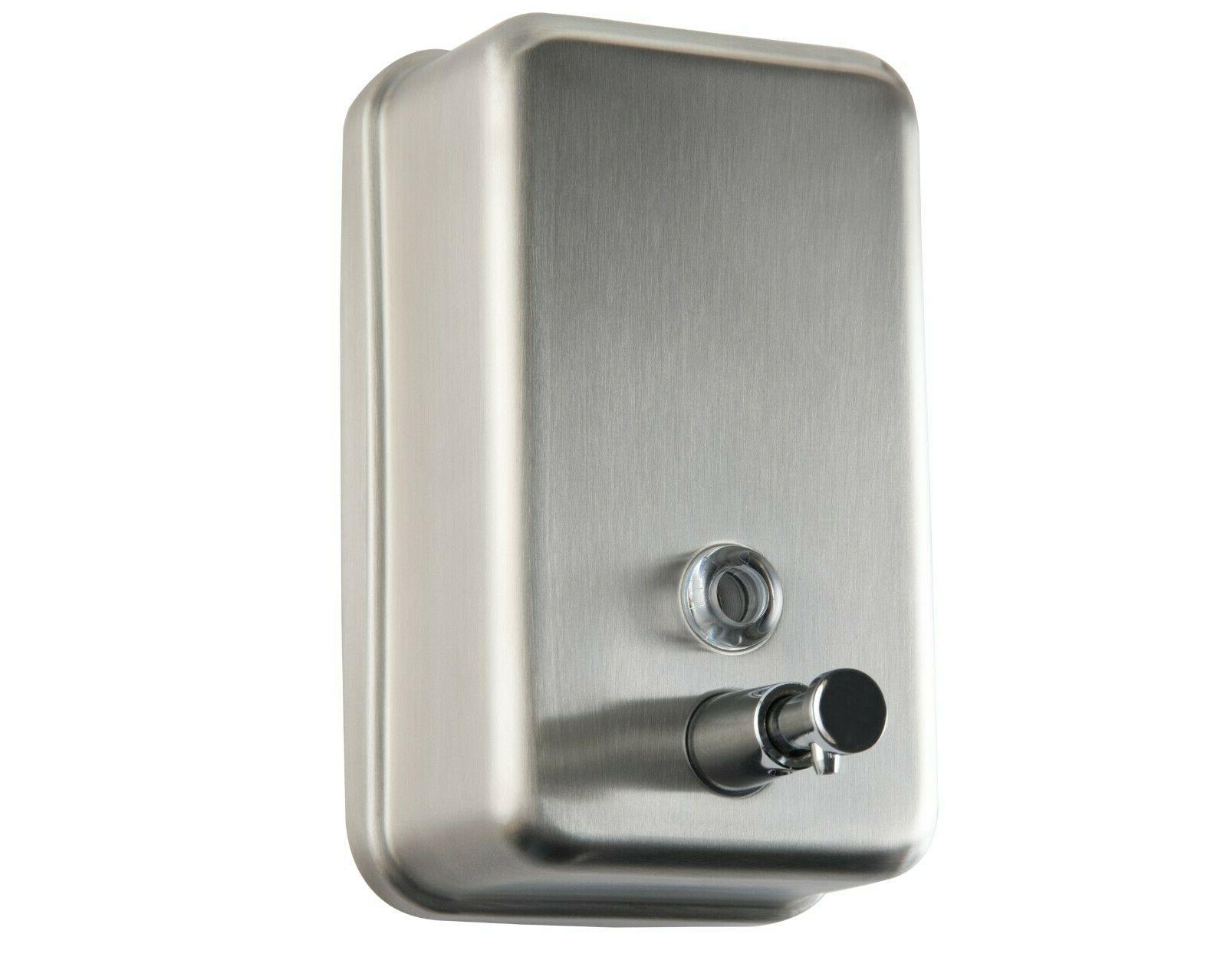 commercial soap dispenser wall mount stainless steel