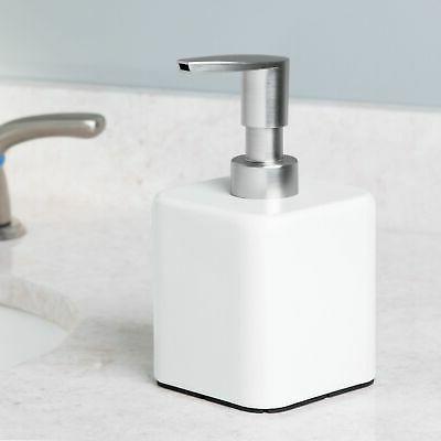 compact square metal refillable soap dispenser pump