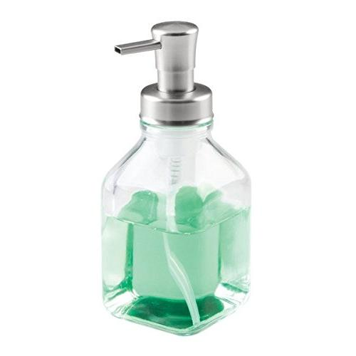 InterDesign Cora Soap Pump for Kitchen or Clear/Brushed
