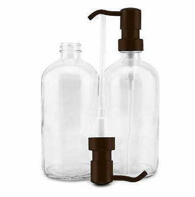 Cornucopia Glass Dispensers with Bronze Pumps 2-Pack