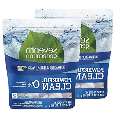 Seventh Generation Dishwasher Detergent Packs, Free & Clear,
