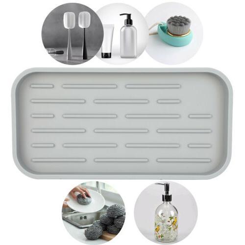 Sponge Holder Drain Tray Pan DDFM Storage Silicone Soap Disp
