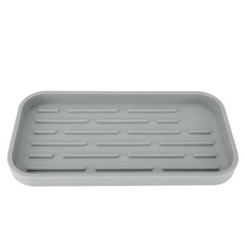 Kitchen Sponge Holder Silicone Sink Tray Sponges Dispenser FDA Mat