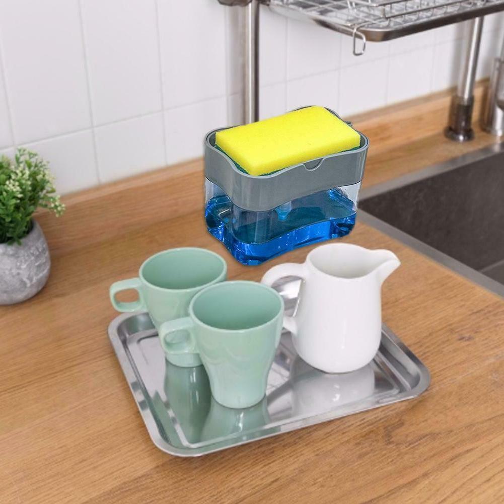 Soap Pump Dispenser Sponge Dish Soap Kitchen