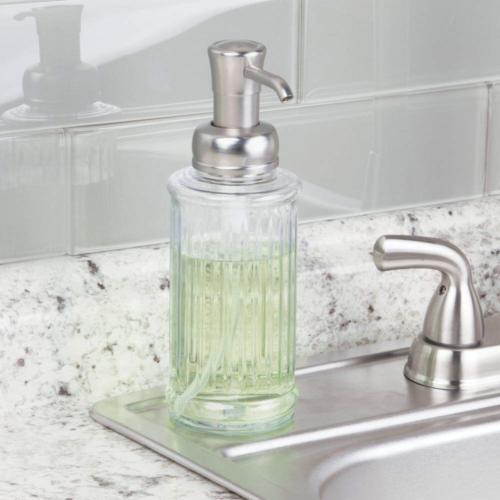 mDesign Fluted Soap Dispenser for Kitchen Sink,